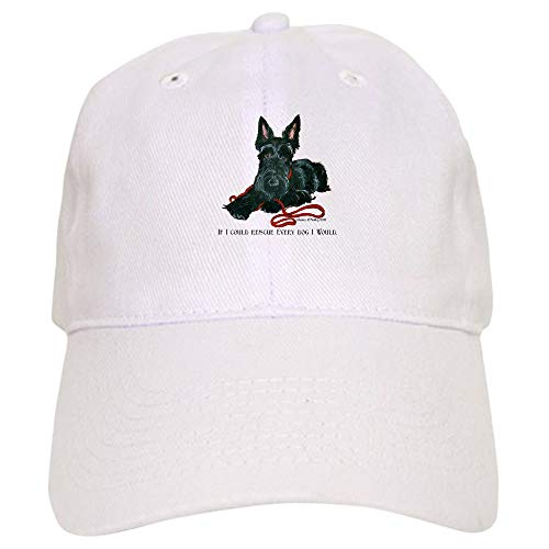 - CafePress Scottish Terrier Rescue Me Baseball Cap with Adjustable Closure, Unique Printed Baseball Hat White