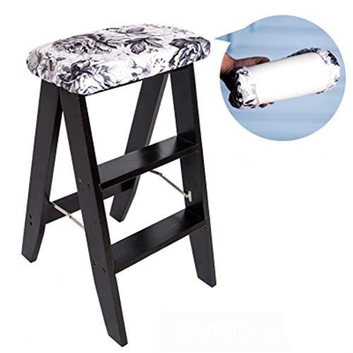 OhLt-j Taburete Plegable, Taburetes Escalera Ascend Escalera pequena portatil de Tres Pasos Cocina Plegable multifuncion Interior de Doble Uso for Interiores (Color: L, Tamano: 34 * 44 * 61 cm)