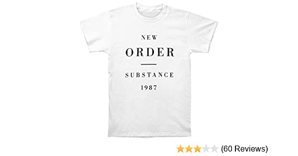 8df252a80 Amazon.com: New Order Substance 1987 Mens T-shirt: Clothing