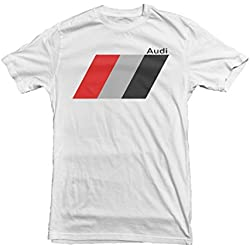 Audi Sports Men's Car T-Shirt, Size: XL White [Apparel]