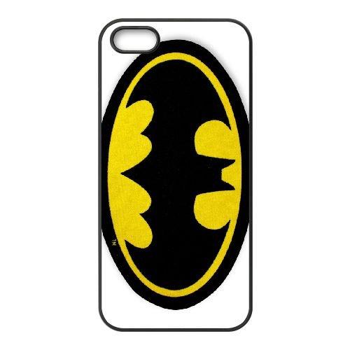 Batman Logo 001 coque iPhone 4 4S cellulaire cas coque de téléphone cas téléphone cellulaire noir couvercle EEEXLKNBC23400