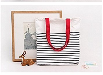 Philna12 - Bolsa de lona para la compra de estudiantes, portátil, diseño de rayas