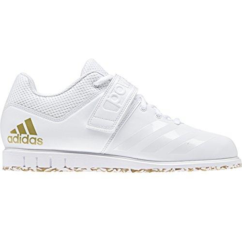 Adidas Powerlift.3.1 - Zapatillas de Deporte para Hombre, Blanco/Blanco/Dorado Metallic, 18 M US