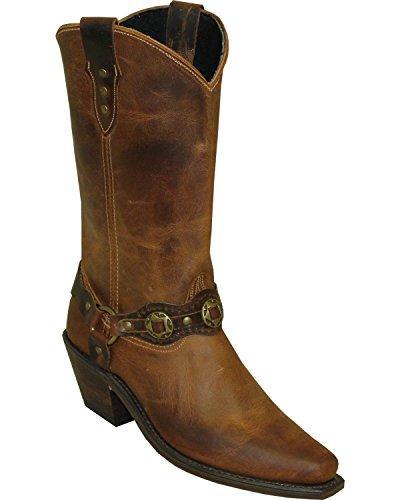 Abilene Womens Sage En Peau De Vache Bracelet Contrastant Western Boot Snip Toe Marron 10 M