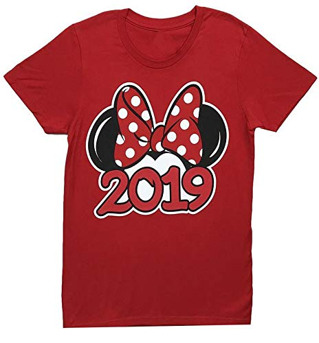 Disney Youth Exclusive 2019 Minnie Mouse Ears T-Shirt Red Large