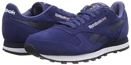 Leather Blue black Blau Course Suede Navy Homme Chaussures De Bleu white midnight Classic collegiate Reebok 5qvHw4xf5