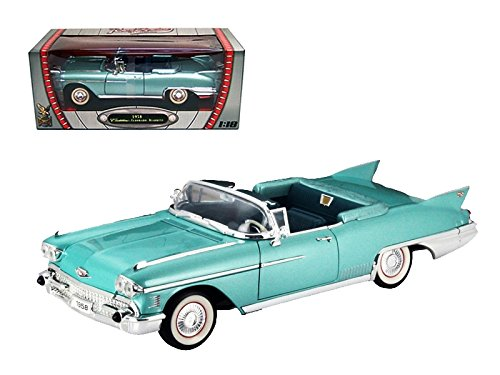 Cadillac Eldorado Biarritz Car - 1958 Cadillac Eldorado Biarritz Car Green 1/18 Diecast Model Car by Road Signature 92158grn