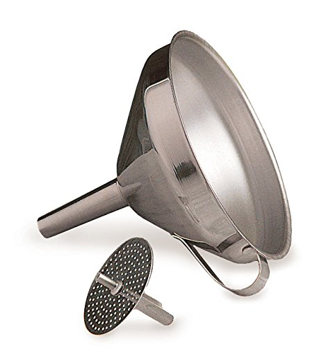 Stainless Steel Decanting Funnel - RSVP Endurance Stainless Steel Multi-use Kitchen Funnel, 4-inch diameter