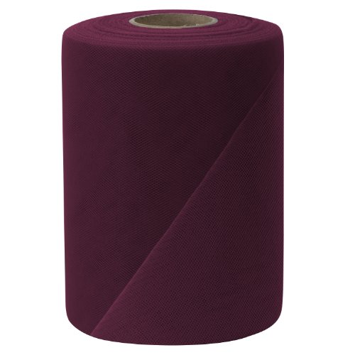 Falk Fabrics Tulle Spool, 6-Inch by 100-Yard, Wine