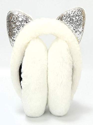 Price comparison product image Valentine's Best Gifts!!! Jumberri Cute Winter Warm Women Cartoon Bow Sequins Plush Cat Ears Design Windproof Warm Adjustable Earmuffs