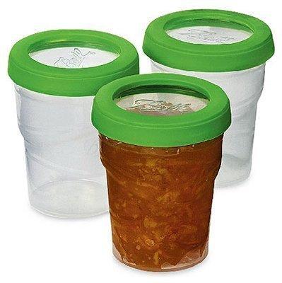 Ball Plastic Pint Freezer Jars with Snap-On Lids | 8-Ounces | 3-Count per Pack (2-Pack) ()