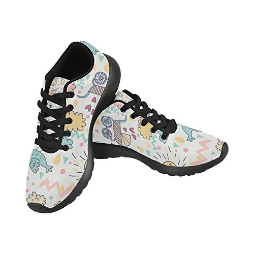 InterestPrint Womens Road Running Shoes Jogging Lightweight Sports Walking Athletic Sneakers Lovely Cartoon