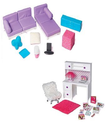 "Doll Furniture for 18"" Doll - Living Room Set, Desk and C..."
