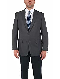 P&L Men's Two-Button Grey Formal Blazer Suit Separate Jacket