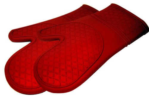 Kitchen Elements Ultra-Flex Red Silicone Kitchen Cooking Mitt, 1 Pair by Kitchen Elements