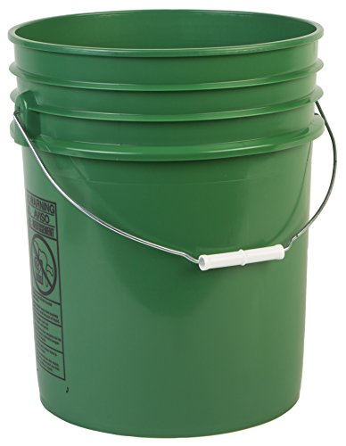 Hudson Exchange Premium 5 Gallon Bucket, HDPE, Green, 12 Pack by Hudson Exchange