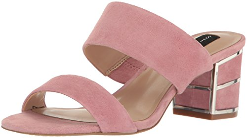 STEVEN by Steve Madden Women's Siggy Dress Sandal, Pink Suede, 8 M US