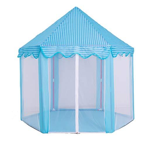 ZYH 屋内ゲームハウス、金属棒モスキートキャッスルおもちゃルームスプリットベッドアーチファクトチャイルドテント誕生日プレゼント140 * 70 * 135CM 広いスペース (色 : 青)