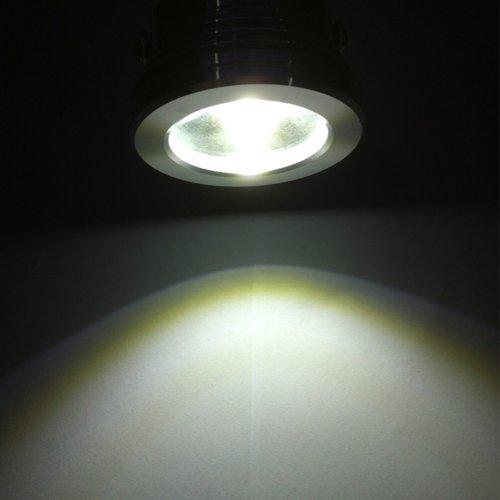 10W 12V LED Underwater Light Flood Lamp Waterproof IP65 Fountain Pond Landscape Lighting 1000LM White 6000-6500K Flat Lens