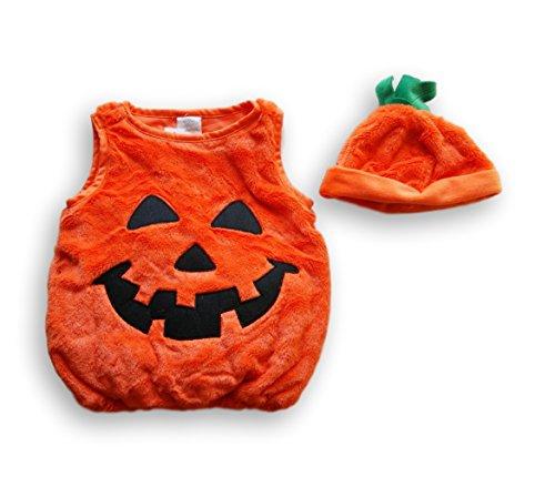 Koala Kids 2 Piece Pumpkin Halloween Costume with Hat- 6-9 Months ()