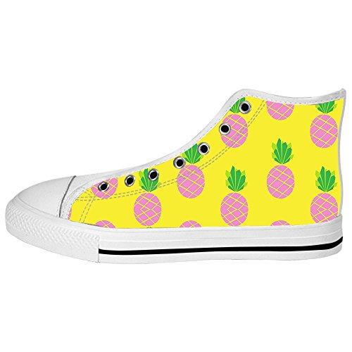 Ananas Tela Shoes Sopra Lacci Alto In Canvas Delle Men's Scarpe Di I Le Ginnastica Custom Fumetto Da qAaqE