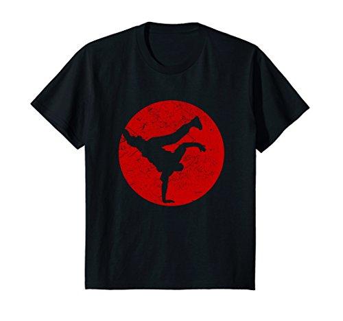 Kids Breakdancing BBOY Spotlight T Shirt   HipHop Dance Red 10 Black by Styleuniversal