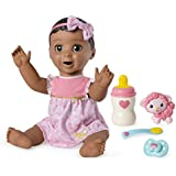Luvabella Brown Hair, Responsive Baby Doll with Real Expressions and Movement, for Ages 4 and Up