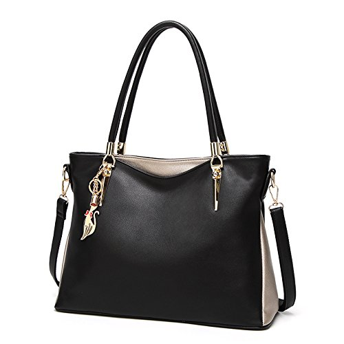 Borse A Moda Shopping Donna Black Tracolla Da Bag Messenger ZdCvqfwxC