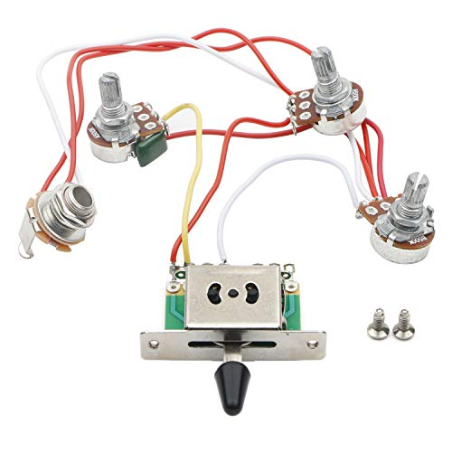 Guitar Wiring Harness Prewired 3x 500k Pots