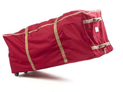 Covermates - Holiday Rolling Tree Storage Bag - Fits 9 to 11 Foot Tree - 3 Year Warranty - Red