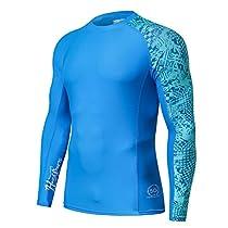 HUGE SPORTS Mens Splice UV Sun Protection UPF 50+ Skins Rash Guard