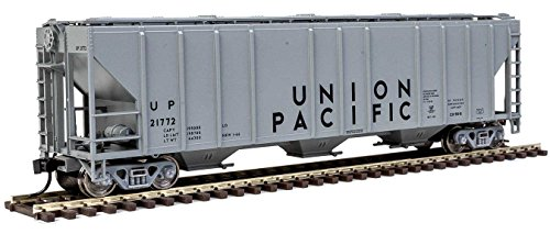 - 54' PULLMAN-STANDARD 4427 CD COVERED HOPPER - READY TO RUN -- UNION PACIFIC(R) 21772 (GRAY, BLACK)