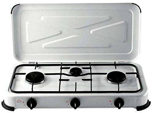 DCG Eltronic EKP 2423 Mesa Gas Negro, Color blanco - Placa (Mesa, Gas hob, Negro, Color blanco, Girator