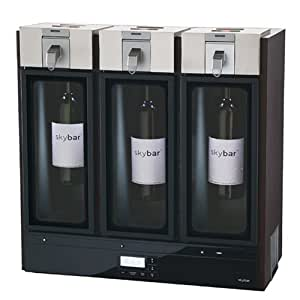 Skybar WP1000 3-Chamber Wine Preserving System, Espresso