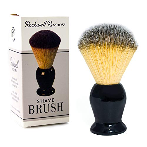 Rockwell Razors Synthetic Bristle Shave Brush with Premium Black Acrylic Handle - 20mm Knot by Rockwell Razors