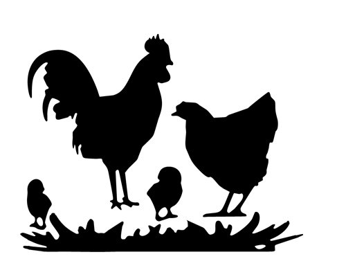 (Chicken Family Animal Decal Vinyl Decor Graphic Chickens Magazine Sticker Rooster Country)
