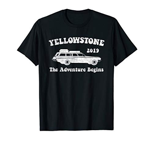 Yellowstone National Park 2019 Family Vacation Distressed T-Shirt
