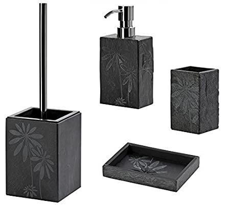 Bathroom Accessories Set Toilet Brush Set JURA Slate Soap Dispenser - Slate bathroom accessories
