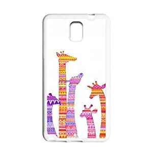 Colorful Aztec Tribal Giraffe Protective Gel Rubber Back Fits Cover Case for SamSung Galaxy Note 3