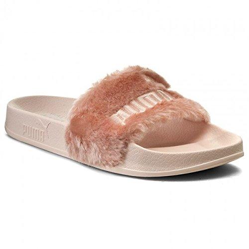 797007408320 Puma 100% Genuine Rihanna x Leadcat Fenty Fur Sliders Slippers Sandals  362266-03 Shell Pink Women s UK 7