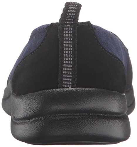 Easy Street Frauen Lovey Leder Loafers Navy Suede Leather/Black Gore