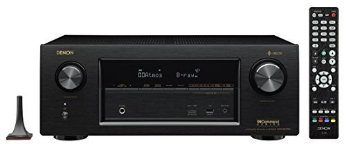 Denon AVRX3400H 7.2 Channel Full 4K Ultra HD Network AV Receiver with HEOS black, Compatible with Alexa (Certified Refurbished)