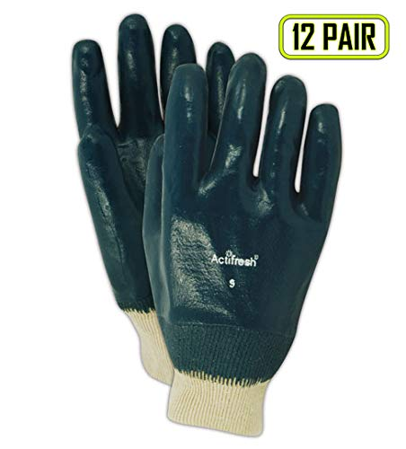 Magid Glove & Safety 4839-7 Magid MultiMaster Lightweight Cotton Gloves with Full Nitrile Coating, 8, Natural, 7 (Pack of 12) (7 Multimaster)