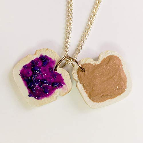 Peanut Butter and Grape Jelly Necklace Faux Food