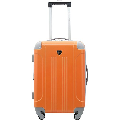 Travelers Club 20 Hardside Spinner Carry On Luggage with Expandable Packing Capacity - (Burnt Orange)