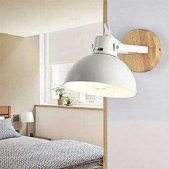 SMZnn Moderna lámpara de pared de madera maciza estudio simple pasillo escalera lámpara de pared dormitorio lámpara de noche dormitorio lámpara plegable espejo lámpara frontal lámpara: Amazon.es: Iluminación