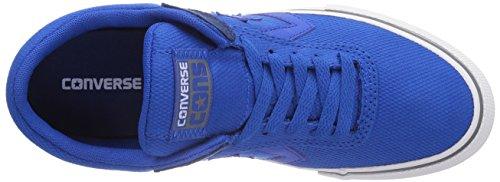 Converse Aero S Ox - Zapatillas de Deporte de canvas Infantil azul - Bleu (Bleu/Noir)