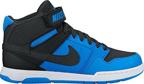 (NIKE Boys' Mogan Mid 2 JR Skate Shoe, Photo Blue/Black White, 5.5 M US Big Kid)