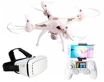 RCTecnic Drone con Cámara HD 720P FPV Phantom Pro + Gafas VR + ...