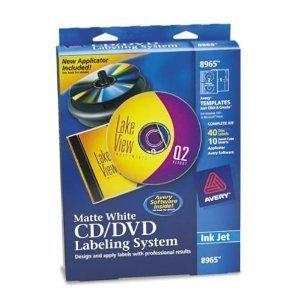 Design Kits Cd Dvd Label (Cd/dvd Design Kit Cd Labels 8941 Ink Jet Printer 20 Labels)